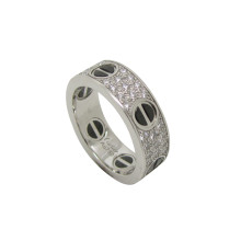 Cartier Love Ring Diamond and Ceramic Ref- B4207653 (4) - Copy