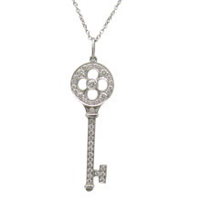 Tiffany and Co. TIFFANY KEYS Fleur de Lis key pendant in platinum 1.5