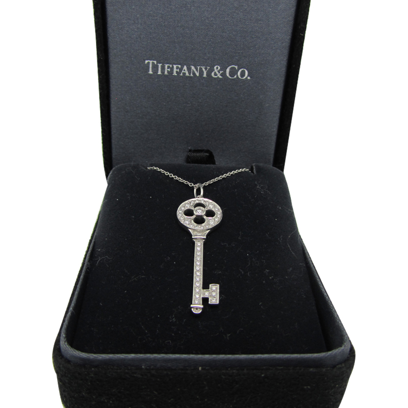 42f0de8d6 Tiffany & Co 'Fleur De Lis' Keys Pendant in Platinum with Diamonds