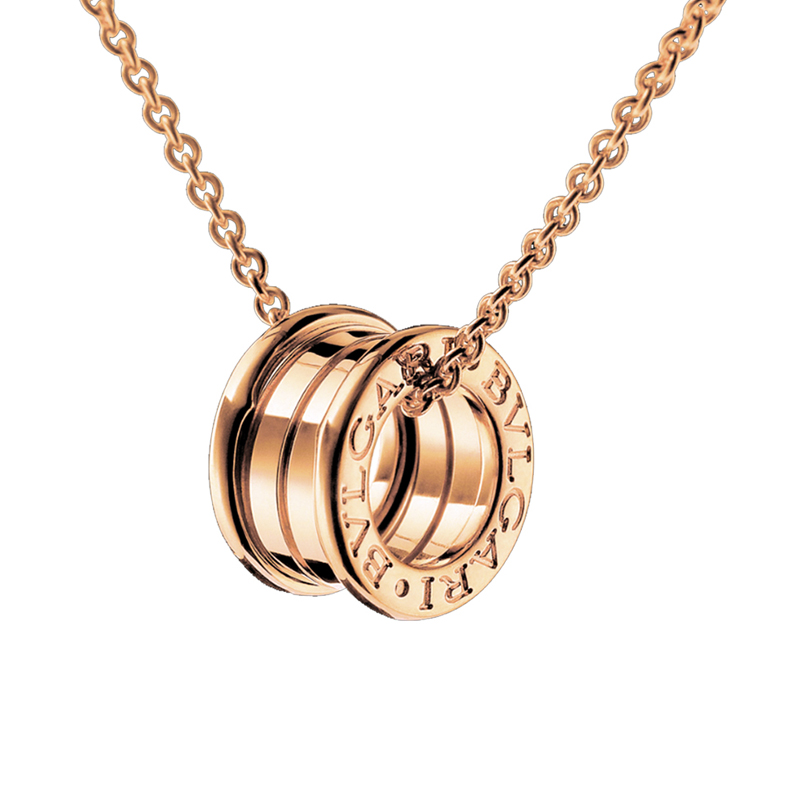 Bulgari b zero1 rose gold pendant chain bulgari mozeypictures Image collections