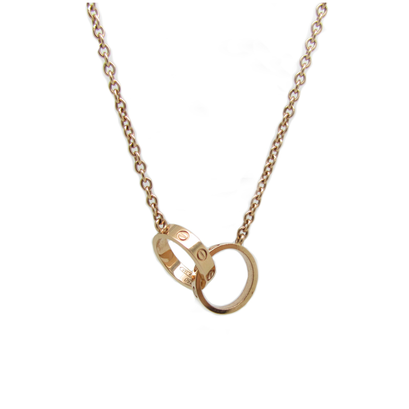 Cartier Baby Love Necklace 18k Rose Gold