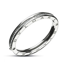 c9fe94542 ... Bvlgari B Zero1 White Gold & Diamond Bangle REF- BR855967 ...