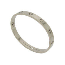 Cartier Love Bangle in 18k White Gold Size 17 (B6035417)