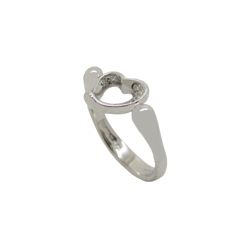 Tiffany Amp Co Elsa Peretti 174 Open Heart Ring In Platinum