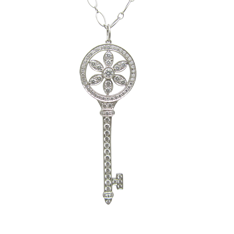 Tiffany co tiffany keys daisy petals pendant in platinum 225 tiffany aloadofball Gallery