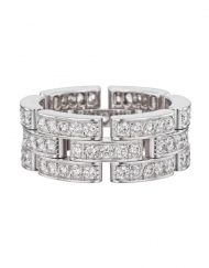 Cartier 18k White Gold Maillon Panthere Ring B4111700