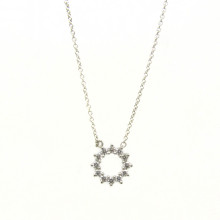 Tiffany & Co Platinum Open Circle Pendant with Diamonds