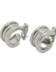Bulgari B Zero1 Earrings 18k White Gold Wide Model OR851217