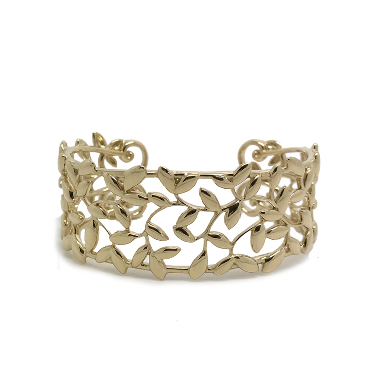 Tiffany & Co. Olive Leaf Cuff Bracelet by Paloma Picasso in 18k Yellow Gold