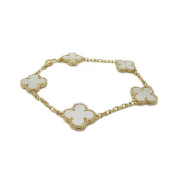 mother pearl vintage products bracelet vc cleef van arpels of alhambra vca