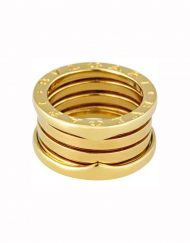 Bvlgari B.Zero1 18k Yellow Gold 4 Row Ring (AN191025)
