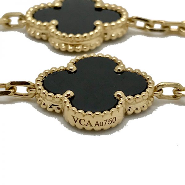5e9618153670b Van Cleef   Arpels Vintage Alhambra Long Necklace with Onyx Motifs