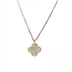 Van Cleef & Arpels Sweet Alhambra Pendant with Mother of Pearl Clover Motif