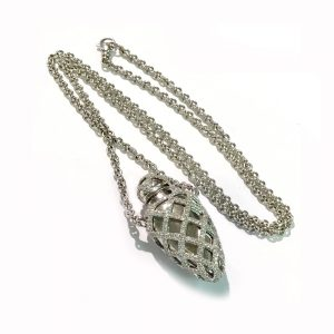 Theo Fennell 18k White Gold & Diamond Ampoule Pendant