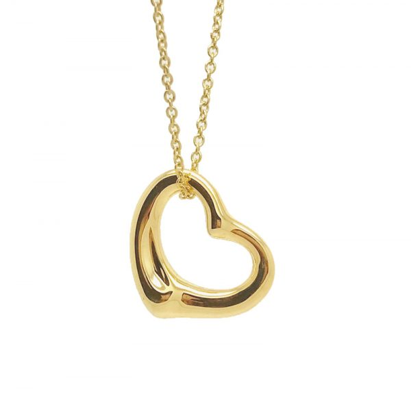pendant large medium with lo circle img silver or diamonds heart optional open disc gold