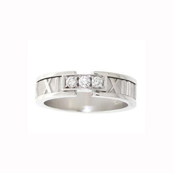 f33785e89 Tiffany & Co Atlas Ring 18k White Gold with Diamonds