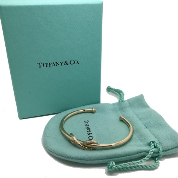 7d4e548c7 Tiffany & Co. Infinity Cuff Bracelet 18k Rose Gold with Diamonds