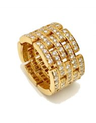 CARTIER MAILLON PANTHERE RING 5 PAVE ROWS (4)