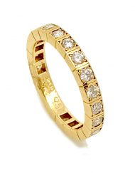 Cartier Lanier Forida Eternity Ring 18k Yellow Gold with Diamonds