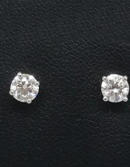 Boodles Solitaire Diamond Earrings in Platinum