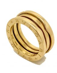 bulgari b zero 1 yellow gold 3 row ring size 50 (1)