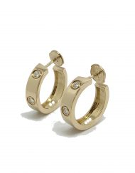cartier love earrings yellow gold diamonds