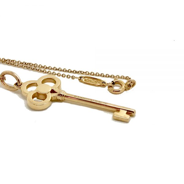 Tiffany co keys crown pendant 18k rose gold diamonds tiffany co keys crown pendant aloadofball Image collections