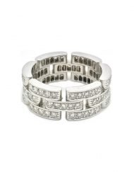 Cartier 18k White Gold Maillon Panthère Ring (B4111700) Size 52 (2)