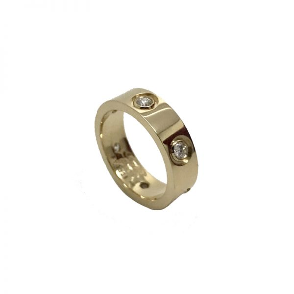 Cartier Love Ring 18k Yellow Gold with 6 Diamonds Size 51