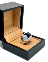 Bvlgari pyramid ring onyx and diamonds 18k white gold (2)