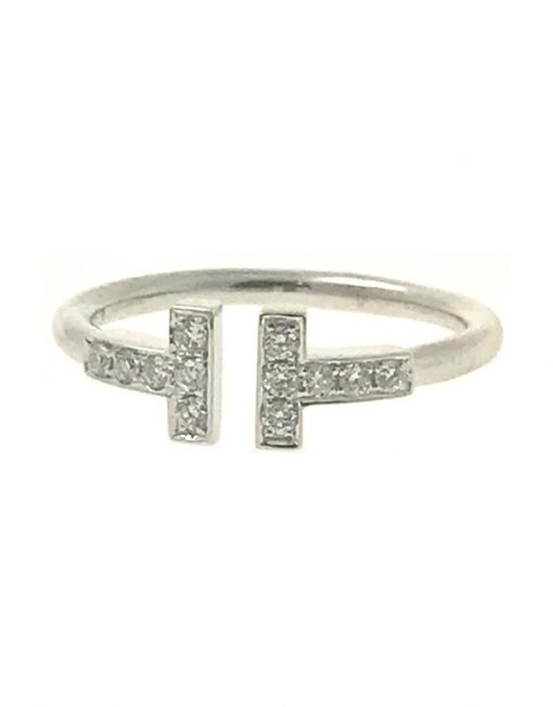1dbb34625ec5 Tiffany   Co. Tiffany T Wire Ring 18k White Gold with Diamonds
