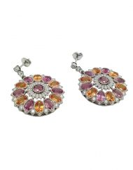 Tiffany and Co Diamond and Gemstone Kaleidescope Earrings