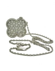 Van Cleef and Arpels Magic Alhambra Pendant 18k White Gold with Diamonds VCARN9MS00 (3)