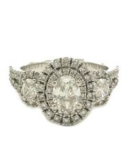 Vera Wang 'Love' Oval Diamond Double Halo Ring (5)