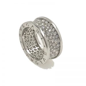 Bvlgari B.Zero1 Ring 18k White Gold & Diamonds (AN855552)