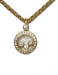 Chopard happy diamond round pendant 18k yellow gold (6)