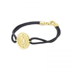 Bvlgari Astral 18k yellow gold and cord bracelet
