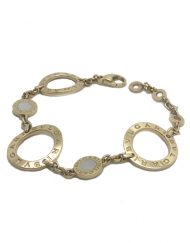 Bvlgari Bvlgari Signature Large Circle Link Bracelet 18k Yellow Gold & Mother of Pearl (2)