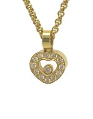 Chopard Happy Diamonds Icons Heart Pendant 18k Yellow Gold 791084-0001 (7)