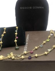 Marco Bicego Paradise Mixed Stone 2 Strand Graduated Bracelet and earrings