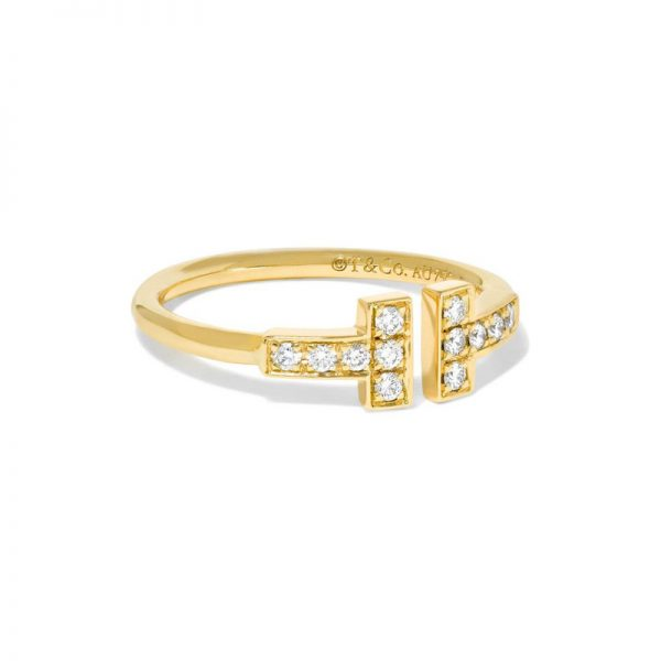 Tiffany Co Tiffany T Wire Ring 18k Yellow Gold With Diamonds
