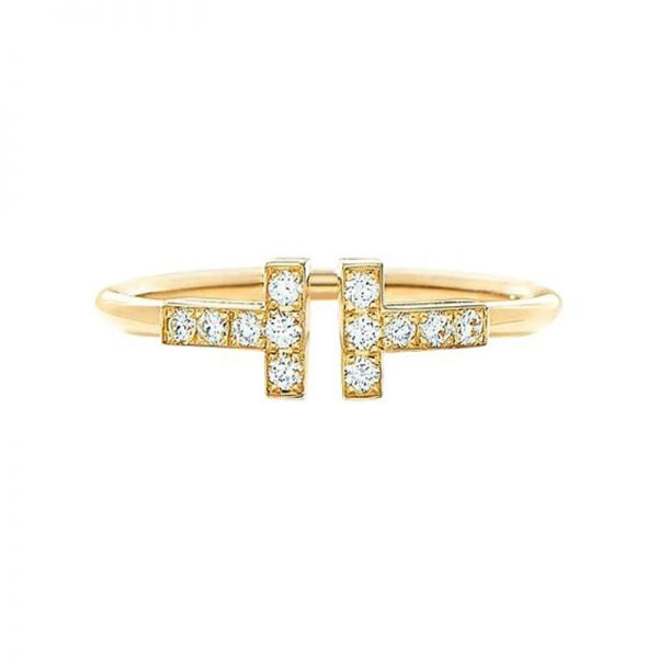 36fd02683 Tiffany & Co. Tiffany T Wire Ring 18k Yellow Gold with Diamonds