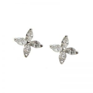 Tiffany & Co Victoria Platinum Diamond Earrings