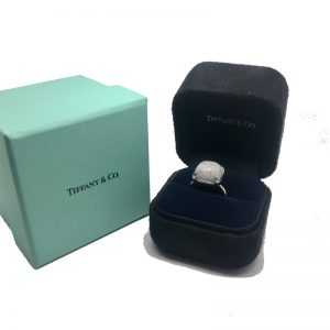 Tiffany & Co. Paloma Picasso Sugar Stack Ring 18k White Gold with Diamonds