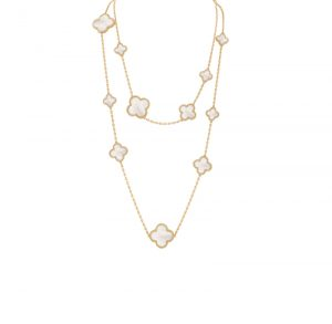 Van Cleef & Arpels Magic Alhambra Long Necklace 16 Mother of Pearl Motifs