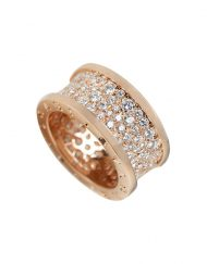 Bvlgari B.Zero1 Ring 18k Rose Gold & Diamonds (AN855553)