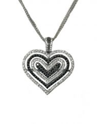 Theo Fennell 18k White Gold Diamond 'Mirage' Heart Pendant - (6)
