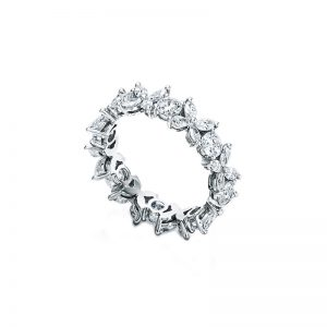 Tiffany & Co Victoria Alternating Platinum Diamond Ring