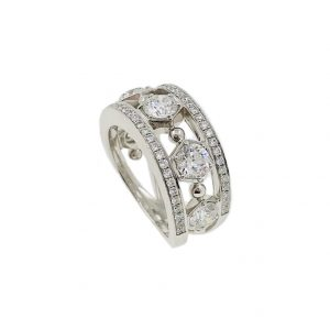 Boodles 18k White Gold and Diamond Large Circus Ring