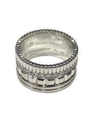 Boucheron 18k White Gold and Diamonds Quatre Radiant Edition Ring (2)